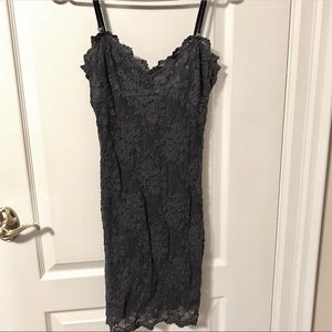 Free People Lace Bodycon Dress w/ Lace Up Back